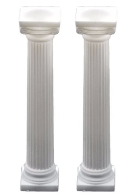 Column Plastic Pillars Set of 2 Greek Roman Prop Decor - LM Prop Rentals