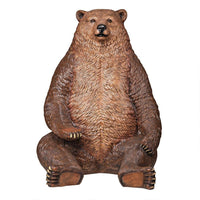Jumbo Brown Grizzly Bear Life Size Statue
