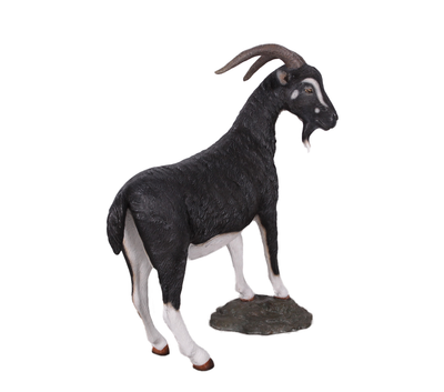 Black Billy Goat Life Size Statue