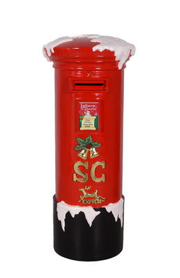 Santa's Mailbox With Snow Life Size Statue