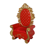 Red Santa Throne Life Size Christmas Statue