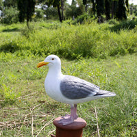 Seagull On Post Life Size Statue Prop