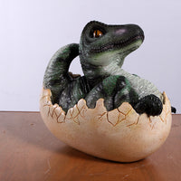 T-Rex Dinosaur Egg Hatching Life Size Statue