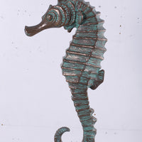 Small Bronze Seahorse Life Size Statue Prop