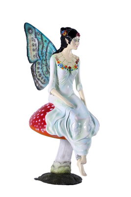 Fairy With Mushroom Over Sized Statue