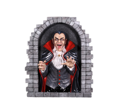 Dracula Vampire Wall Decor Halloween Prop Life Size Resin Decor Statue