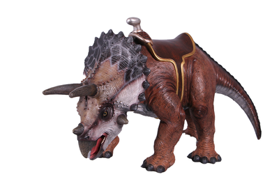 Baby Triceratops Dinosaur With Saddle Life Size Statue