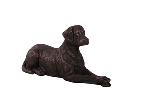 Bronze Laying Labrador Life Size Statue