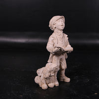 Carolers Singing Stone Christmas Prop Resin Decor Statue