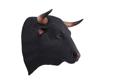 Cow Bull Spanish Fighting Head Cow Farm Prop Life Size Decor Resin Statue