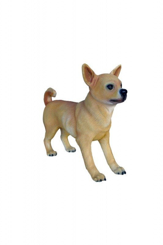 Dog Chihuahua Boy Animal Prop Life Size D̩ecor  Resin Statue - LM Prop Rentals