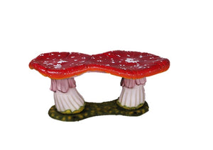 Mushroom Fly Agri Double Stool Large Prop Decor Statue - LM Treasures Prop Rentals