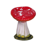 Red Single Mushroom Stool Over Sized Statue