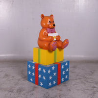 Presents with Bear Life Size Statue