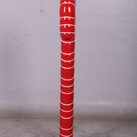 Small Red Candy Cane Over Sized Statue