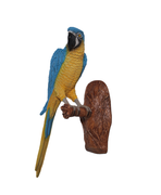Blue Parrot On Branch Life Size Statue Prop