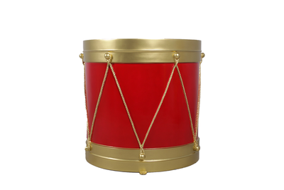 Red And Gold Circus Drum Life Size Statue