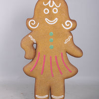 Gingerbread Cookie Family Of 4 Over Sized Statue