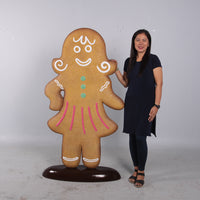 Woman Gingerbread Cook Over Sized Statue