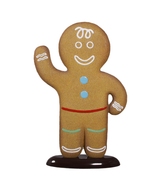 Boy Gingerbread Cookie Over Sized Statue
