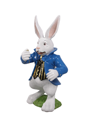Rabbit Comic Nivens Alice In Wonderland Cartoon Resin Life Size Statue