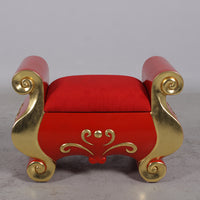Santa Claus Stool Life Size Statue