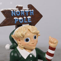 Elf North Pole Display Holiday Life Size Statue