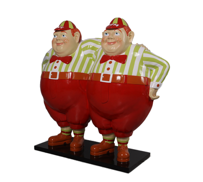 Tweedle Dee and Tweedle Dum Alice In Wonderland Cartoon Resin Life Size Statue