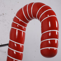 Hanging Red Candy Cane Over Sized Statue