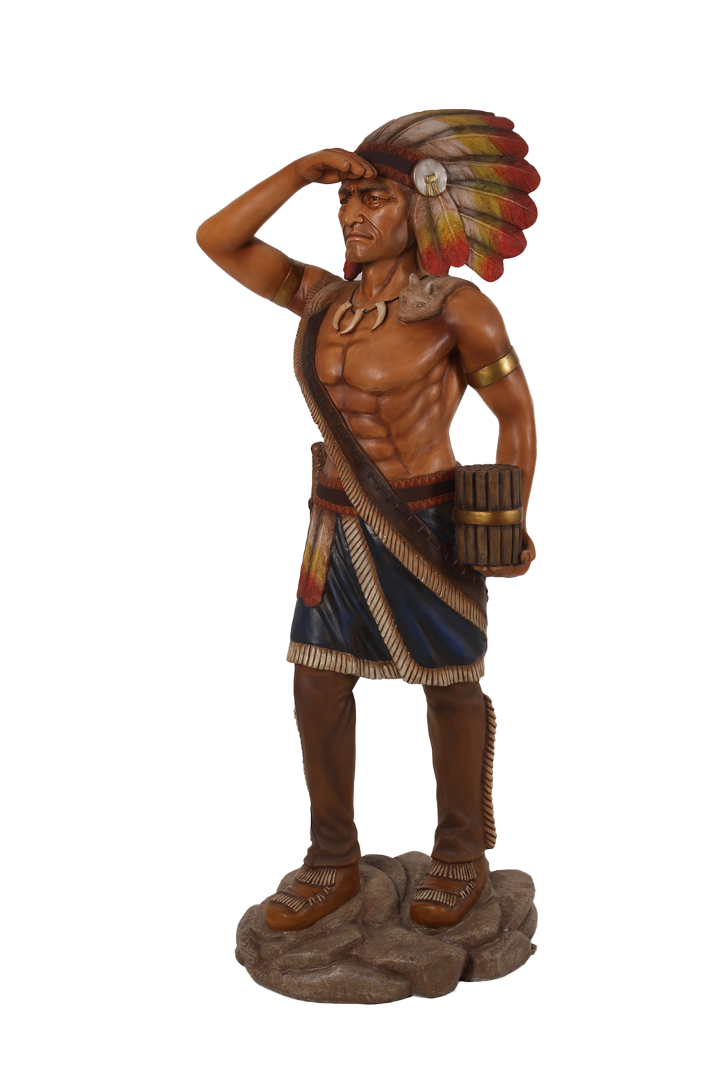 Tobacco Indian Life Size Statue