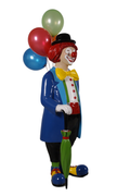 Clown With Balloons Life Size Statue