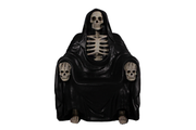 Grim Reaper Wraith Throne Halloween Prop Life Size Resin Decor Statue