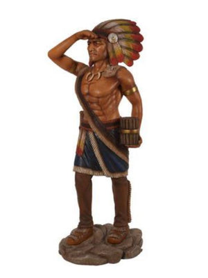 Indian Tobacco Cigar Store Standing 4ft Life Size Prop Decor Resin Statue - LM Treasures Prop Rentals