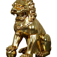 Foo Dog Male Chinese Lion On Base Over Sized Statue