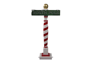 North Pol Sign Life Size Statue