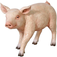 Pig Baby # 2 Standing Farm Prop Life Size Decor Resin Statue - LM Treasures Prop Rentals