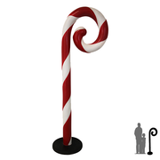 Candy Cane Red and White Swirl Big Over sized Display Resin Prop Decor Statue - LM Treasures Prop Rentals