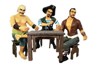 Pirates Sitting Playing Cards Set - Life Size Resin Statue - LM Treasures Prop Rentals