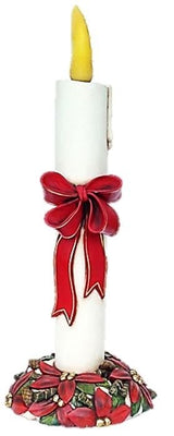 Candle with Ribbon Life Size Christmas - LM Treasures Prop Rentals