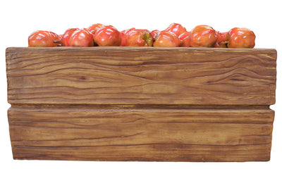 Fruit Apple Red Case Full Over Sized Restaurant Prop Resin Statue - LM Treasures Prop Rentals