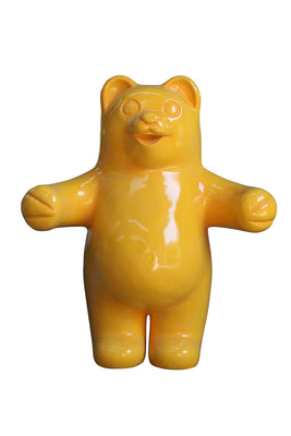 Candy Gummy Bear Yellow Over Sized Prop Resin Statue - LM Treasures Prop Rentals