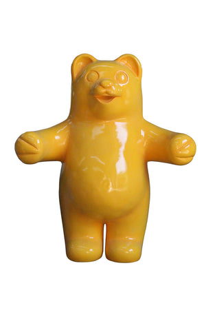 Gummy Bear Candy Yellow Over Sized Prop Resin Statue - LM Prop Rentals