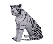 Sitting Siberian Tiger Life Size Statue