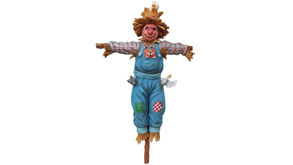 Comic Scarecrow on Post Life Size Decor Prop Statue - LM Treasures Prop Rentals