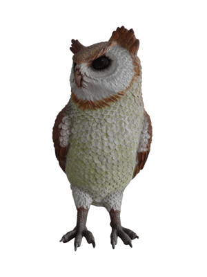 Bird Owl Animal Prop Life Size Resin Statue - LM Prop Rentals