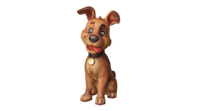 Comic Dog  Animal Prop Life Size Decor  Resin Statue - LM Prop Rentals