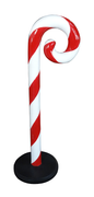 Candy Cane Red and White Swirl Small Over sized Display Resin Prop Decor Statue - LM Treasures Prop Rentals