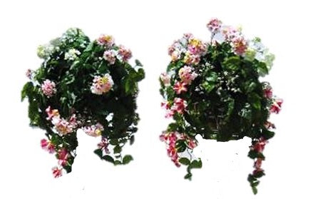 Artificial Flower Bundles Table Top Set of 2 Garden Prop Decor - LM Treasures Prop Rentals
