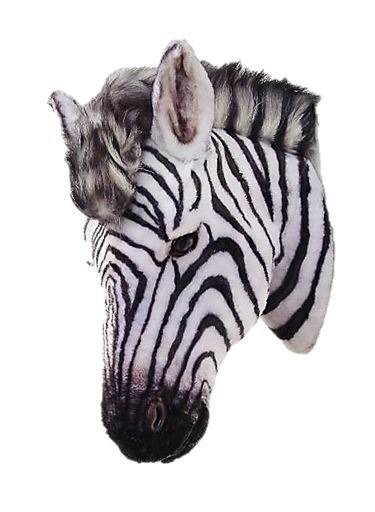 Zebra Head Safari Prop Life Size Decor Resin Statue - LM Treasures Prop Rentals