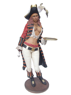 Lady Pirate Butler Life Size Statue